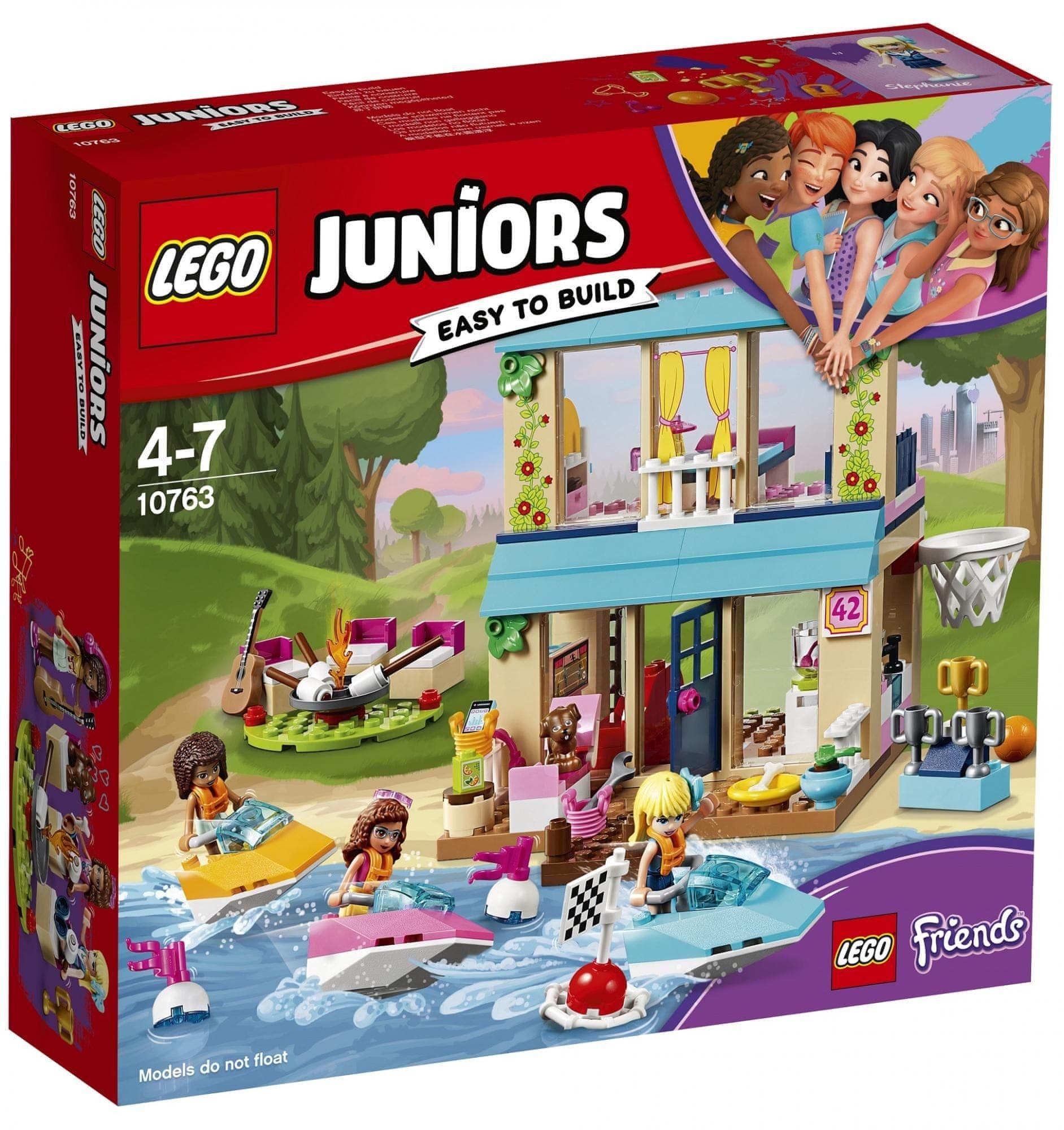 LEGO ® Juniors 10763 Stephanie a její dům u jezera